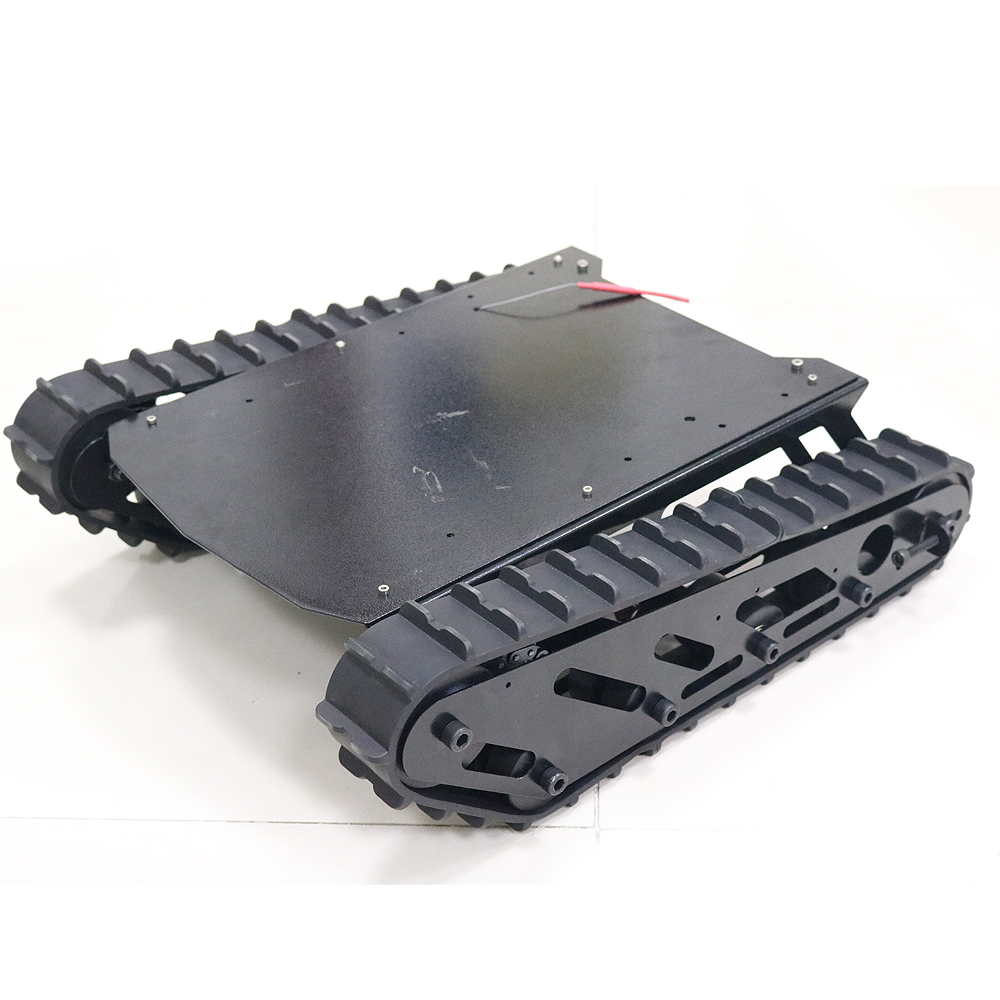 Metal Tank Chassis 15kg Load Weight with Rubber Crawler Tracked Vehicle Excavator Robot Chassis Remote Control DIY RC Toy T007