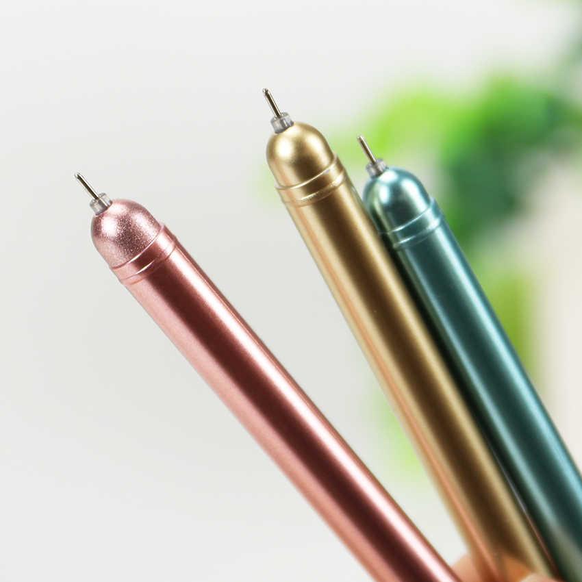 1 шт., креативная лампа с заглушкой от пыли, гелевая ручка, черная, 0,38 мм, светильник, нейтральная ручка, канцелярские принадлежности, школьные принадлежности, подарок