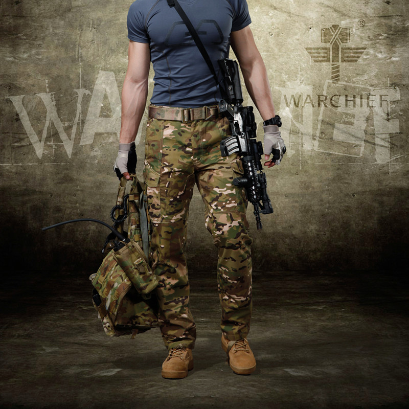 Men Pants Outdoor Hunting Pants Male Military Camouflage Airsoft Shooting Trousers Windproof Warm Camo Pants