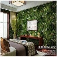 Azji południowo-wschodniej Roślin Zielonych Liści Bananów Tapety Salon Sypialnia Korytarz Tle Tapety Rolka Home Decor