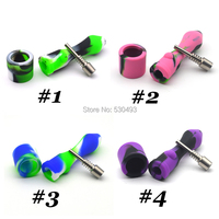 10mm Tobacco Smoking Pipe Cigar Pipes Concentrate Oil Silicone Pipes Smoking With Titanium Nail Silicone Nectar