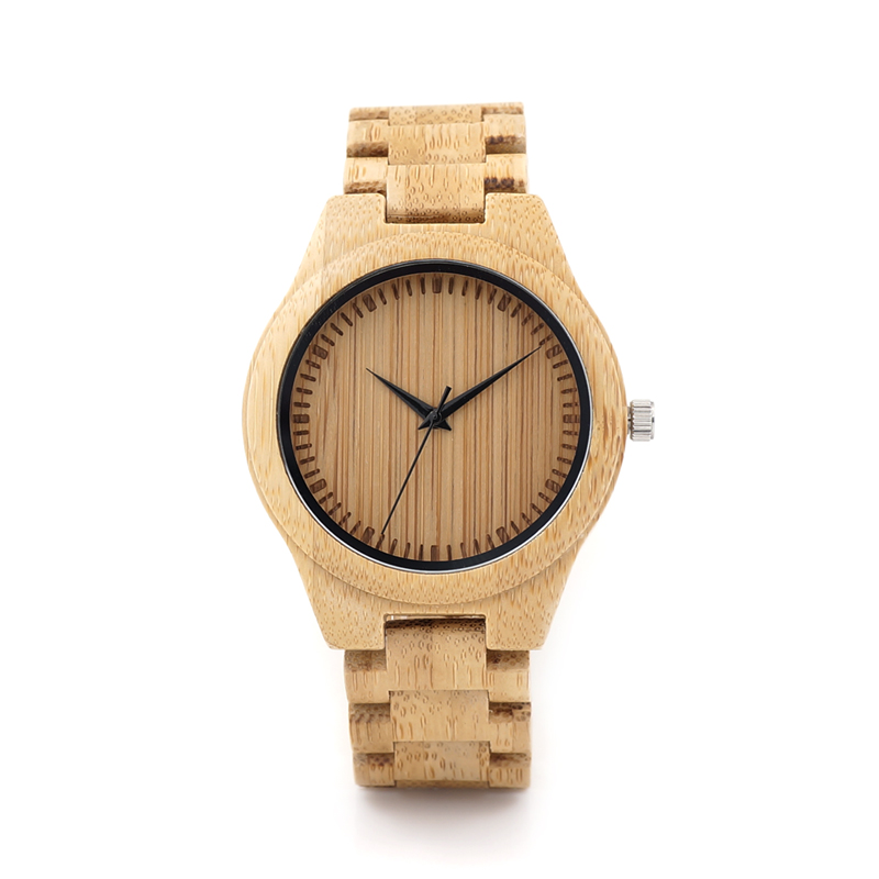 BOBO BIRD Brand Designer D19 Nature Bamboo Mens Watch Bamboo Dial Bamboo Straps Quartz Watches Gift