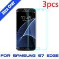 3 unids para samsung galaxy s7/s7 edge plus flim de la pantalla de la cubierta completa de la suciedad resistente a los arañazos protector de pantalla crystal clear tpu película