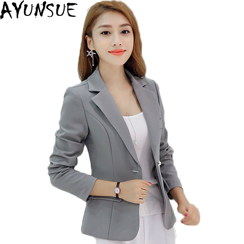 Careful Women Office Suit Jackets Coat Slim Short Design Long Sleeve Ladies Blazer Girls Work Wear Jacket Clothing Wine Gray Blue Suits & Sets