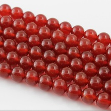 Baihande Natural Red Agate Onyx Stone A Class 4 6 8 10 12mm Round Gemstone Loose Beads For Necklace Bracelet DIY Jewelry Making xinyao jewelry loose 40 4 6 810 12 14 f369 onyx agate beads