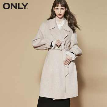 ONLY  womens' winter new double-sided wool with long woolen Tie-up belt Side pocket|11834S538 - DISCOUNT ITEM  48% OFF All Category