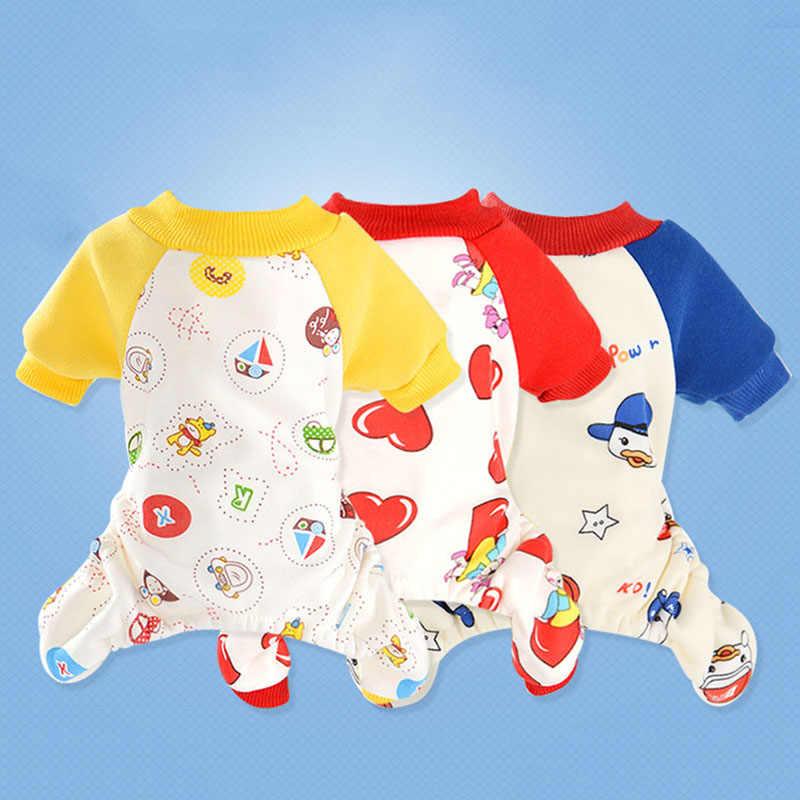 Dog Pajamas Fleece Pet Clothes 4 Colors Cozy Onesie Pet Cat Puppy Pjs  Jumpsuit Rompers for 80217ec6f