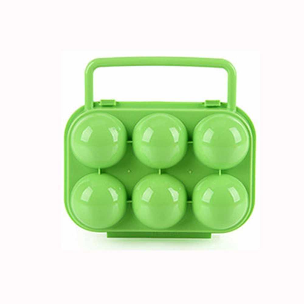 New Arrival przenośny 6 jaj plastikowy pojemnik pojemnik na jajka pokrowiec z rączką do przechowywania żywności organizacja jaj Almacenamiento 1.5