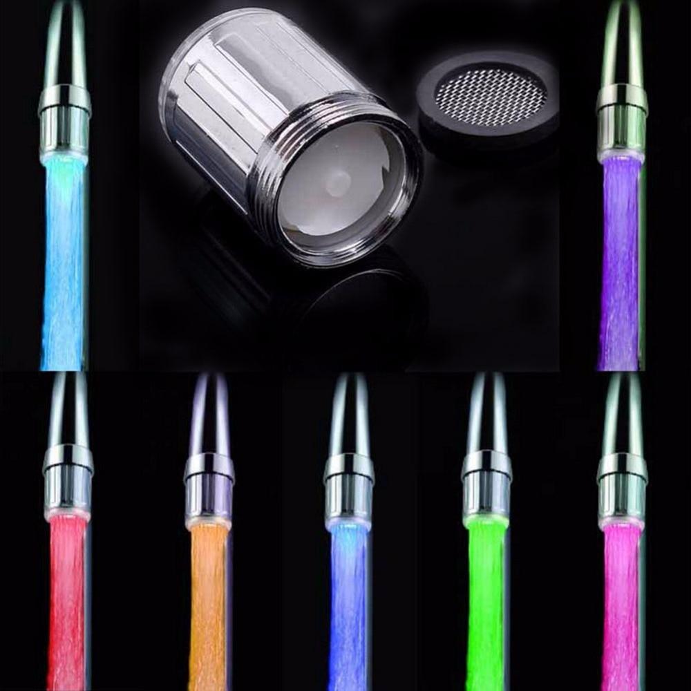 1Pc M24 LED Light Water Faucet Tap Heads Temperature Sensor 3Color ...