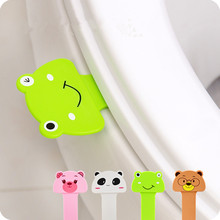 3pcs! New portable convenient to Toilet lid device Cute Cartoon Toilet Cover Lifting for bathroom accessories Easy to use(China (Mainland))