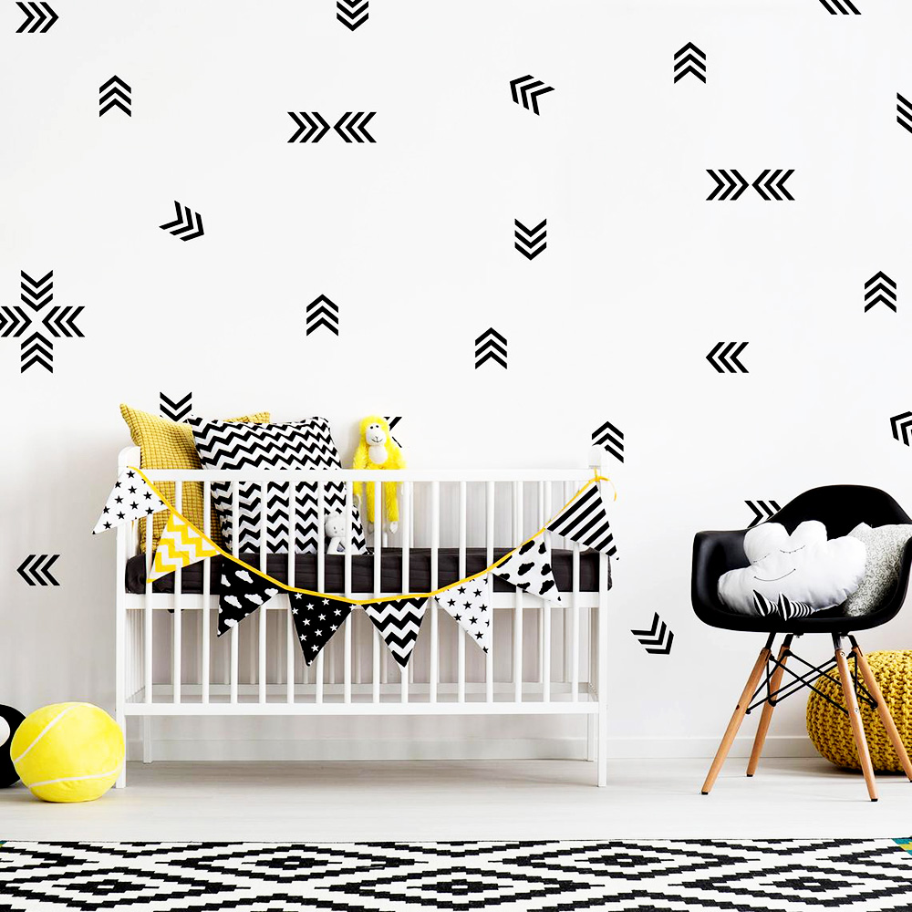Personalized Arrow Room Decoration Vinyl Wall Sticker For Baby Room Nursery Decoration Mural Modern Bedroom Wallstickers