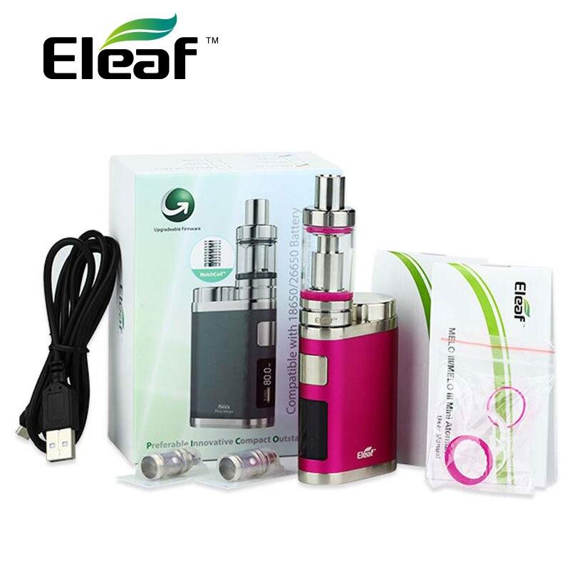 iSmoka Eleaf iStick Pico Mega TC Vaping Kit 80W Pico Mega Box Mod & 4ml Melo III melo 3 Atomizer Tank Electronic Cigarette Vape