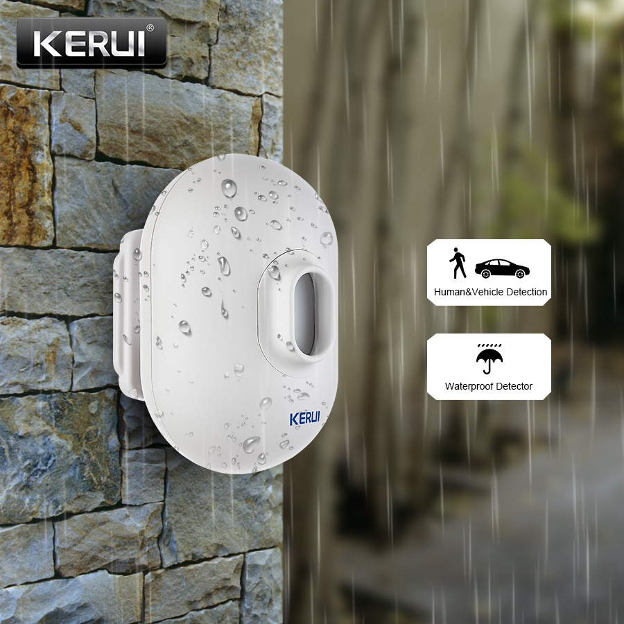 KERUI P861 Waterproof PIR Motion Sensor Detector For KERUI Wireless Security Alarm Driveway Garage Burglar Alarm 2017 kerui new wireless infrared detector curtain sensor pir detector burglar alarm system motion detector free shipping
