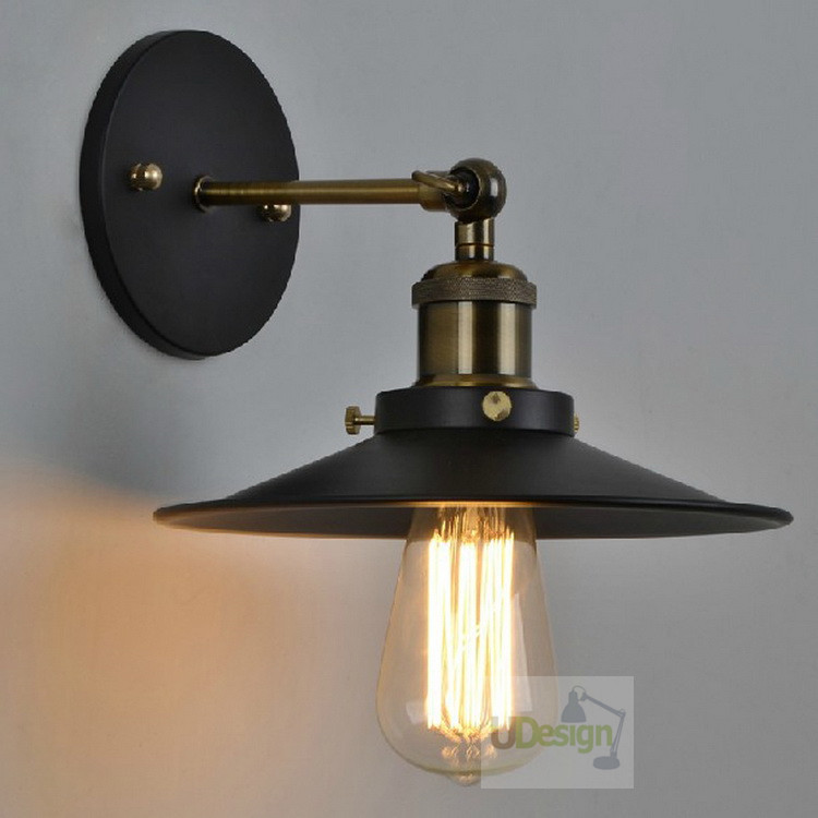 Free shipping America style  vintage copper wall lamp edison iron +E27 Lamp holder  5001L-Dia36Free shipping America style  vintage copper wall lamp edison iron +E27 Lamp holder  5001L-Dia36