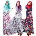 Cosecha Caftán Jilbab Abaya Islámico Musulmán de Las Mujeres Maxi Vestido De Manga Larga M L XL Venta Caliente Oriente medio Saudita Domingo ropa jupe