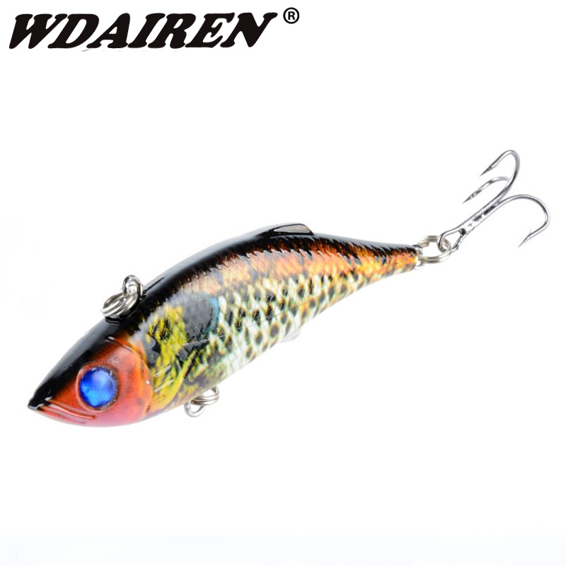 1Pcs VIB Fishing Lures Rattlesnake 8cm 11.8g Fishing Lure Vibration for All Water Levels Wobblers Hooks Carp Bait WD-389