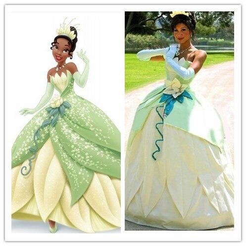 Sexy princess tiana costumes