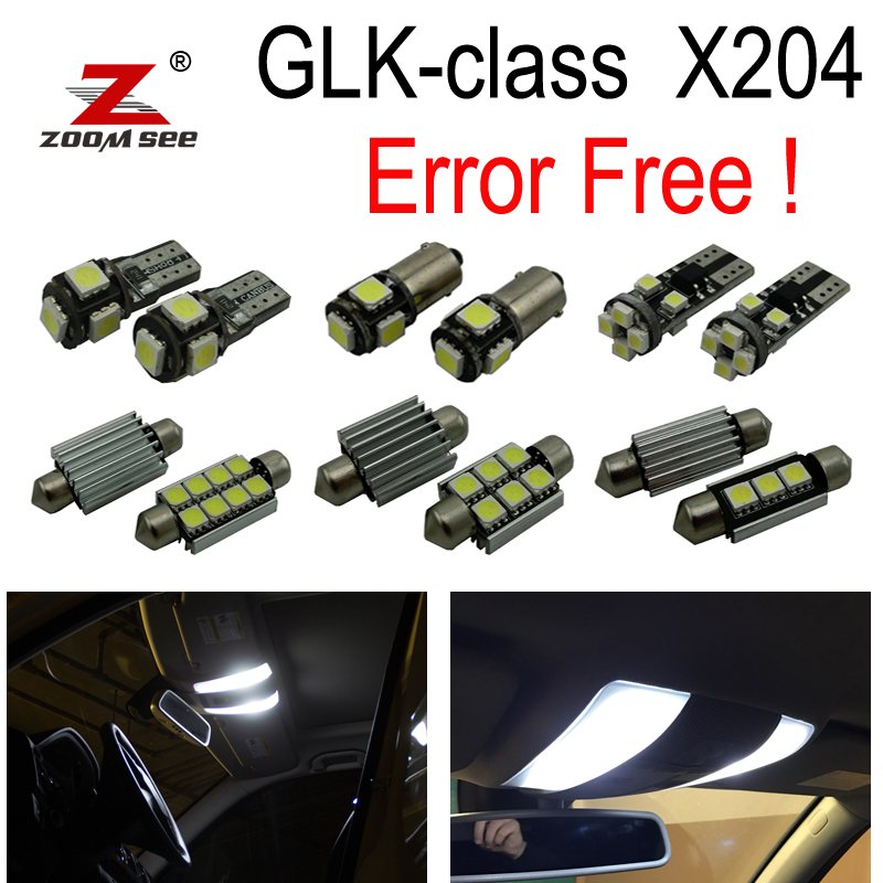 20pc x Error free LED Bulb Interior Light Kit package For Mercedes Benz GLK class X204 GLK280 GLK300 GLK320 GLK350 (08-15) 27pcs led interior dome lamp full kit parking city bulb for mercedes benz cls w219 c219 cls280 cls300 cls350 cls550 cls55amg