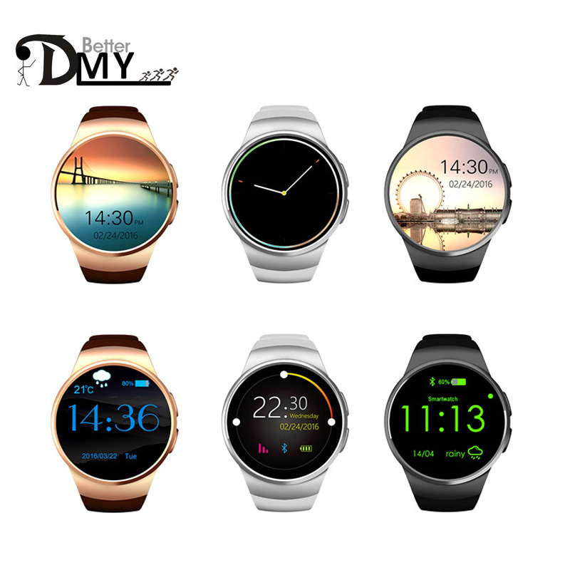 2016 New Product KW18 Smart Watch Android IOS Digital watch Bluetooth Reloj Inteligente SIM Round Heart