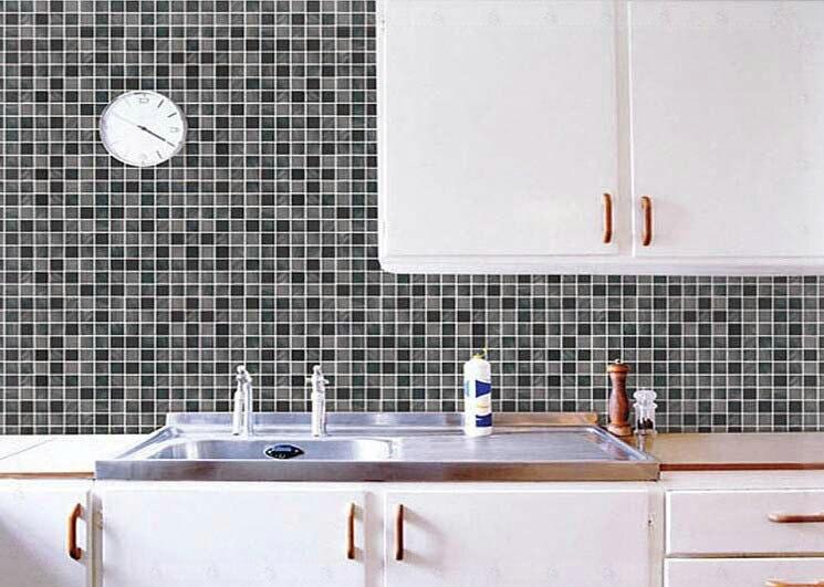 m papel pintado auto adhesivo pvc cocina bao impermeable etiqueta de la pared mosaico azulejo de la pared de la decoracin del hogar del papel caf