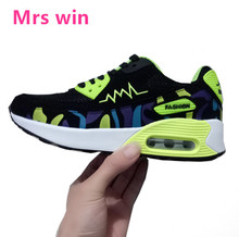 Hot Air Mesh Breathable Women Running Shoes Girls Ladies Comfortable Platform Sport Shoes Sneakers Outdoor Movement Female