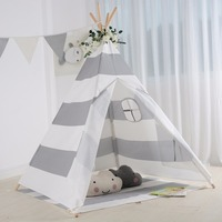 YARD Soft Foldable Cartoon Print 4 Poles Kids Teepees Play Tent Children Indian Baby