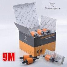 Box Of 20PCS 9M HUMMINGBIRD Disposable Grip Tube Flat Magnum 9 Sterilized Tattoo Grip Tube M9 Supply HDG25-9M#