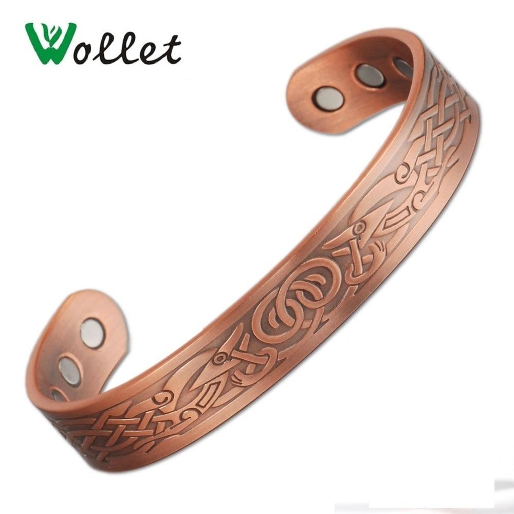 Bracelet Manchette Cuivre Magnétique Bracelet Guérison Bio Traitement Arthrite Soulagement Douleur