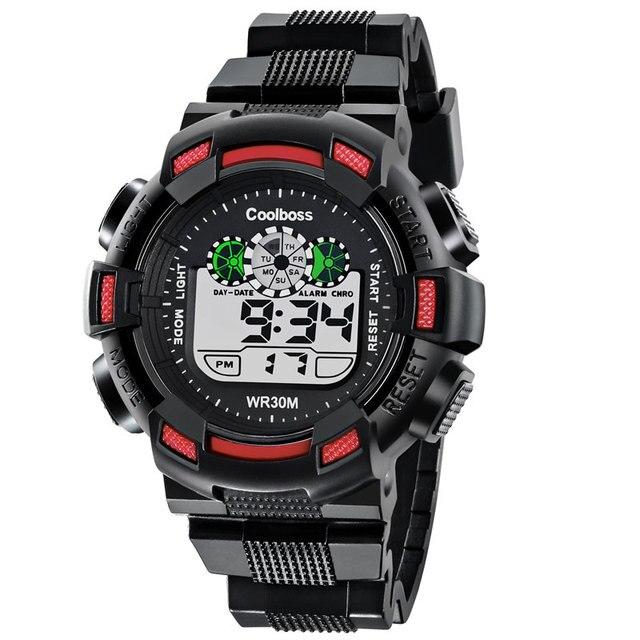 COOLBOSS Brand Children Watch Kids Outdoor Sports Watches Boy Girl LED Display D