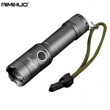 AIMIHUO LED Flashlight 18650 zoom torch waterproof flashlights T6 2000LM 3 mode led Zoomable light For 3x AAA or 3.7v Battery