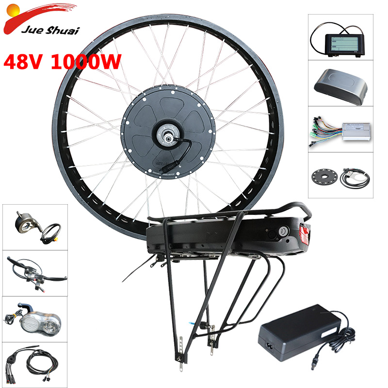 48V 1000W Electric Bike Conversion kit Rear Motor Wheel Ebike kit 48V 21AH Samsung LG battery E bike Bicycle Bicicleta Eletrica