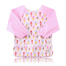 Ohbabyka Baby Bibs Waterproof Newborn Burp Cloths 2016 Brand Baby Slabbers Baby Eating and Feeding Fashion Baby Bib Long Sleeve
