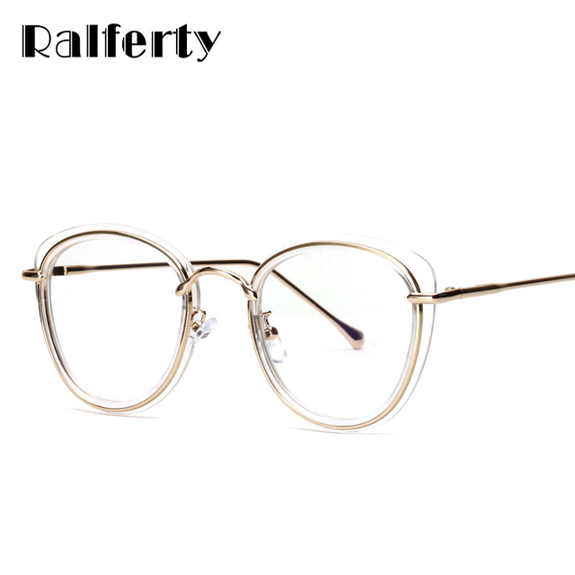 e6cd85a3d2 Ralferty Glasses Transparent Women Eyeglass Frame Brand Designer Clear  Optical Frames For Myopia Prescription Glasses Oculo 3256