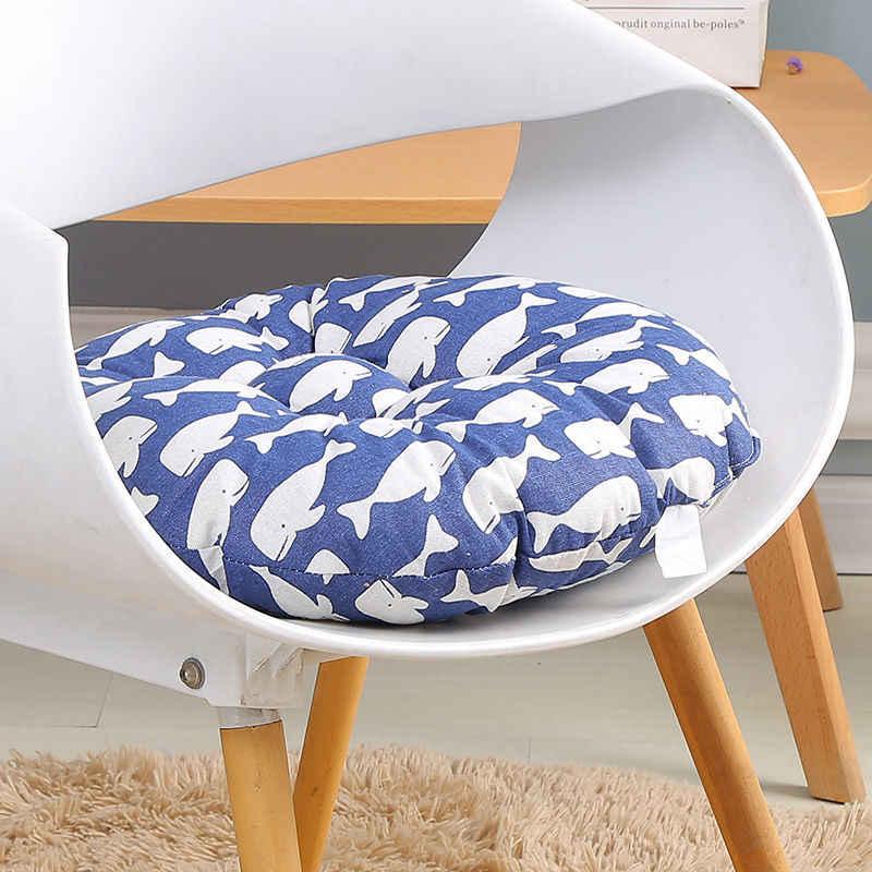 Sofá Jogar Travesseiro Japão Estilo Almofadas de Assento Da Cadeira Coxim Do Carro Almofada de Algodão Rodada Engrosse Suave Cozinha Fezes Almofada Do Assento Da Cadeira mat