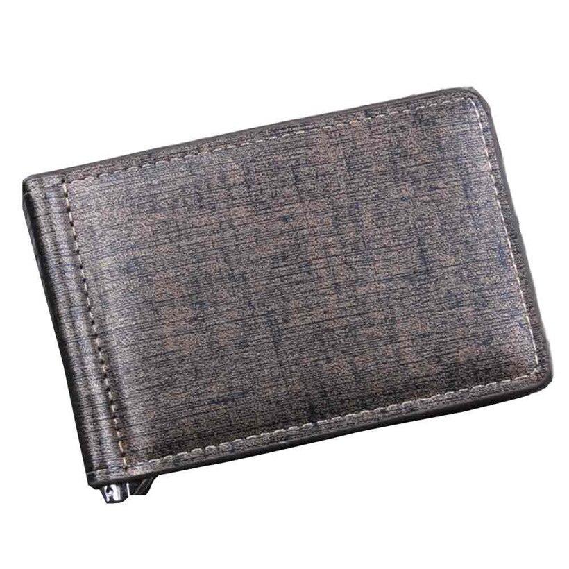 Men Bifold Business Leather Men Wallet Purse Money Clip ID Credit Card Organized Purse Pockets Carteira Masculina Brand