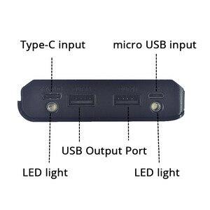 Image 4 - DIY 8x18650 зарядное устройство, внешний аккумулятор, пластиковый корпус, чехол, Type C, Micro, двойной USB порт, дисплей, внешний аккумулятор, коробка без аккумулятора