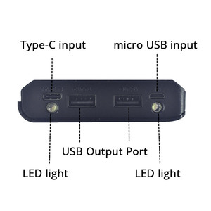 Image 4 - Diy 8x18650 배터리 충전기 전원 은행 상자 플라스틱 쉘 케이스 유형 c 마이크로 더블 usb 포트 디스플레이 powerbank 상자 배터리없이