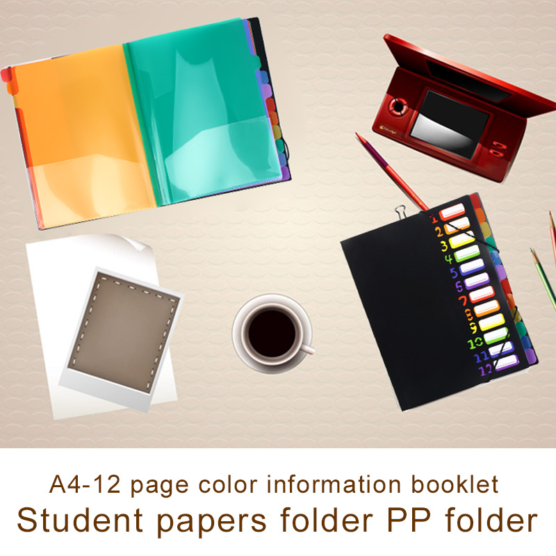 12 Grids A6 File Folder A6 Document Folder A6 Document Bag File Holder Universal Manager Multifunctional