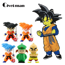 Caneta Caricatura Unidade flash Drive Capacidade Real 8GB GB GB 64 32 16GB 128GB USB Flash Drive Dragonball SON presentes de Flash Memory Stick Pendrives GOKU(China)