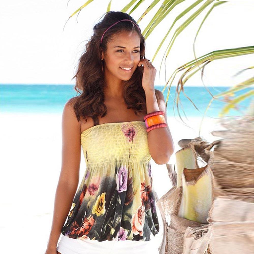 Cropped Top Women T Shirt 2017 Summer Sexy Printing Off Shoulder Sleeveless T-shirt Femme Crop Tops Plus Size Tee