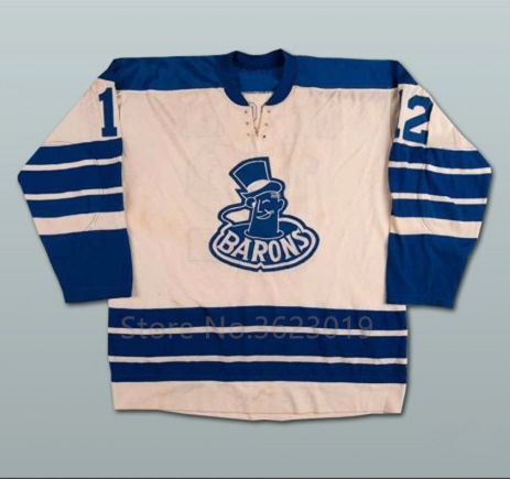 Barons  12 Barrie Meissner Hockey Jersey Embroidery Stitched Customize any  number and name bbf0f197f