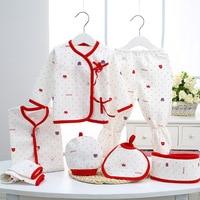 Newborn Clothes Pure Cotton Newborn Gift Box Sets New Born Baby 7Pcs Set Thermal Underwear Clt387