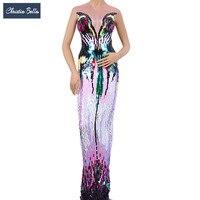 Кристиа Белла Модное Длинное цельное платье с пайетками пикантные вечерние платья со стразами для певцов в ночном клубе сценические костюм