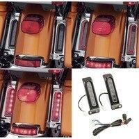 Electra Glo Keystone Auxiliary LED Run/Brake/Turn Lamps for harley FLHTCU rear fender light FLHTK Keystone saddlebag side light