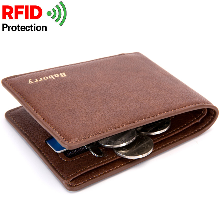 2019 Rfid Wallet Man Slim Theft Design Coin Bag Men Wallets Male PU Small Money Smart Purses Short Card Holder Case Purse W193 wallet