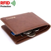 купить 2019 Rfid Wallet Man Slim Theft Design Coin Bag Men Wallets Male PU Small Money Smart Purses Short Card Holder Case Dollar Price дешево