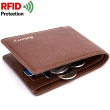 Rfid blokk Slim Theft Design Új érme táska férfi pénztárcák PU Man pénztárca kis pénzt pénztárcák Rövid férfi kártyatartó pénztárca W193