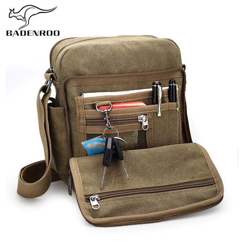 Badenroo 2018 New Arrival Retro Men Crossbody Bag Canvas Travel Men's Luxury Casual Shoulder Messenger Bag High Quality Male bag