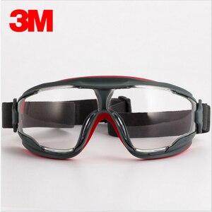 Image 2 - 3M GA501 נגד השפעה אנטי splash בטיחות משקפיים Goggle ספורט אופניים כלכלה ברור אנטי ערפל עדשה הגנה על העין עבודה