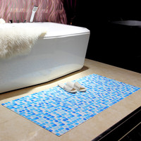 Kitchen mosaic floor mat PVC hollow absorbent foam bathroom mat Home entrance hall thicken non slip carpet DIY plastic carpet